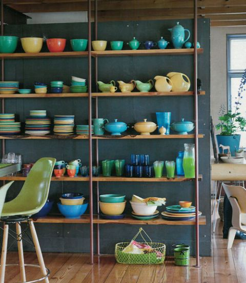 Green, Dishware, Shelf, Shelving, Furniture, Room, Ceramic, Serveware, Interior design, Porcelain,