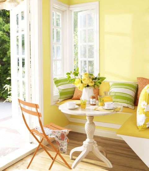 White, Room, Furniture, Green, Interior design, Yellow, Table, Home, Property, Chair,
