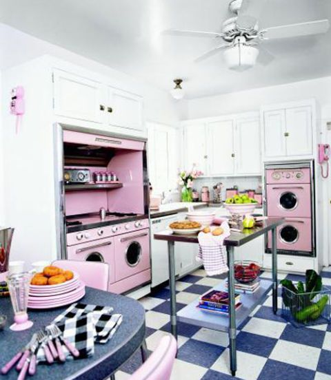 Pink Retro Kitchen Decorating Ideas Vintage Kitchen Decor