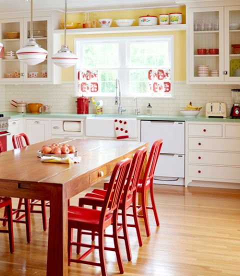Wood, Room, Interior design, Floor, Furniture, Flooring, White, Red, Drawer, Hardwood,
