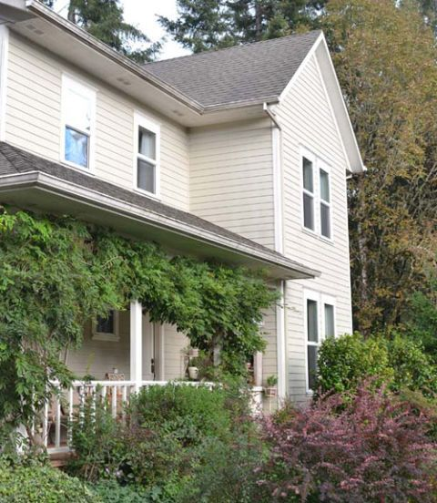 Wood, House, Window, Property, Residential area, Home, Real estate, Roof, Land lot, Building,