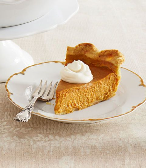 ultimate pumpkin pie with run whipped cream