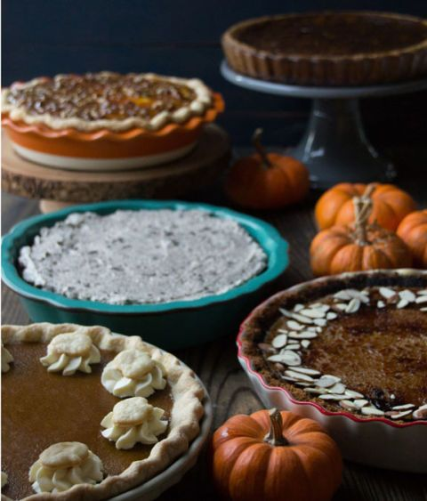 five pumpkin pies group shot