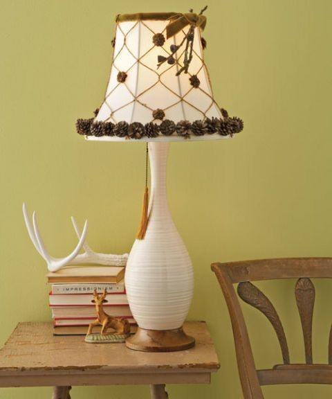 lamp with decorative shade