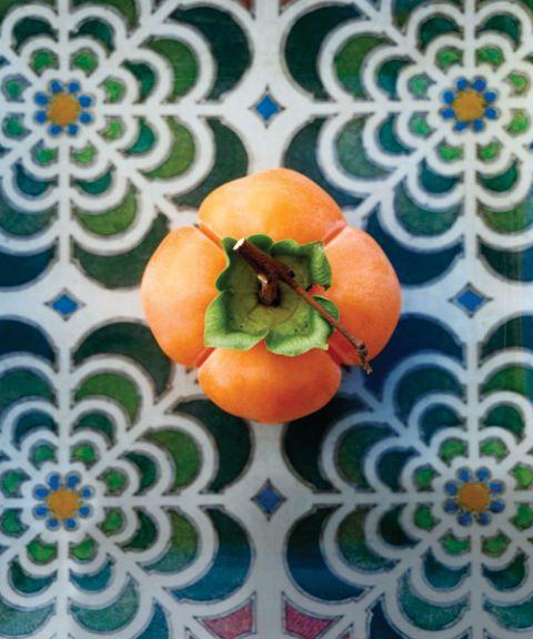 persimmon on tiles