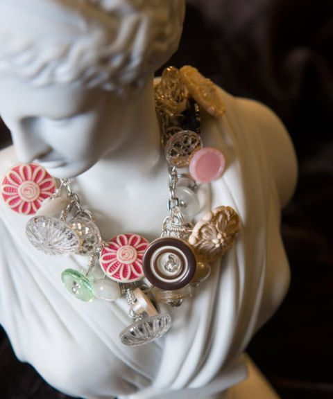 necklace on bust