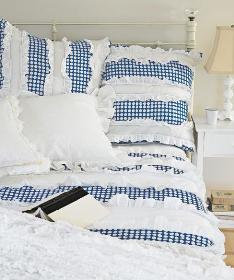 polka dot duvet with ruffles