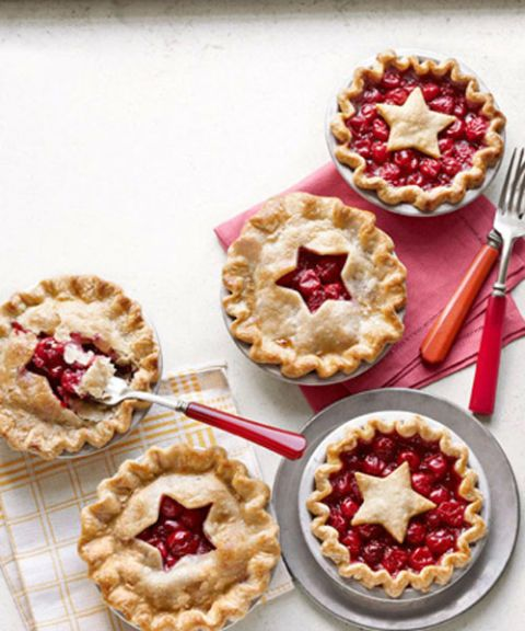 star cutout cherry pies
