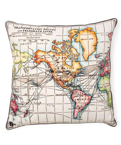 map pillow