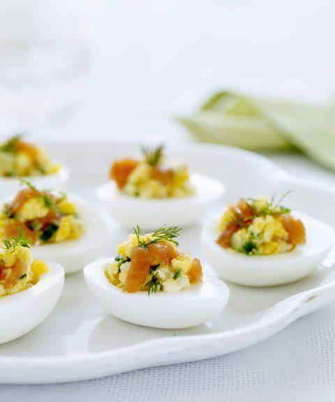 eggs stuffed with smoked salmon