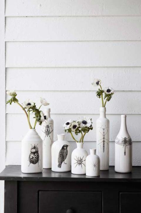 white animal bottles