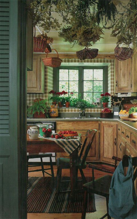 Vintage Country Living Farmhouse Kitchen