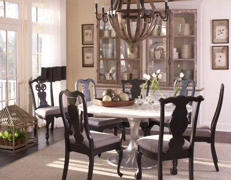 brown dining room table set