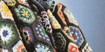 colorful kaleidoscope afghan from new mexico