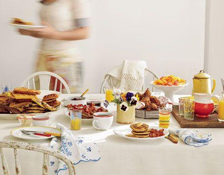 breakfast table spread