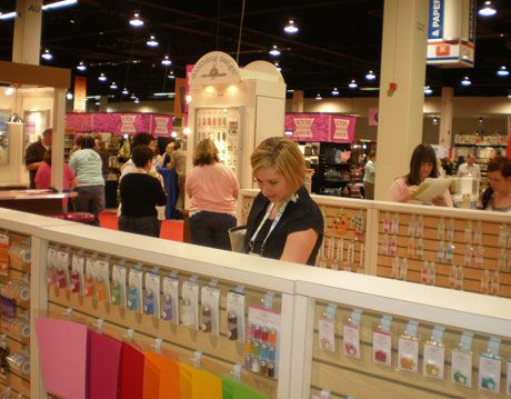 country living editor kirsten fields looking at doodlebug wares