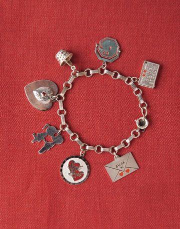antique silver charm bracelet