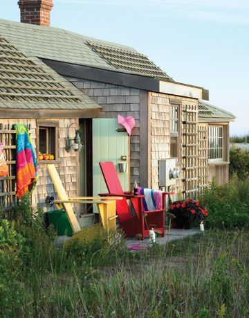 Big Color in a Tiny House - Nantucket Cottage Style on