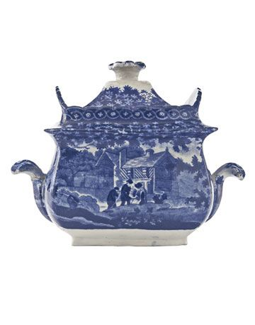 transferware sugar bowl