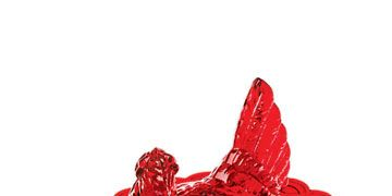 red hen candy dish
