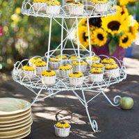 mini sunflower cupcakes