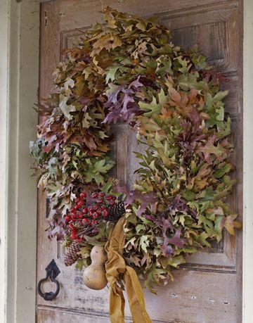 how to make an oak leaf wreath