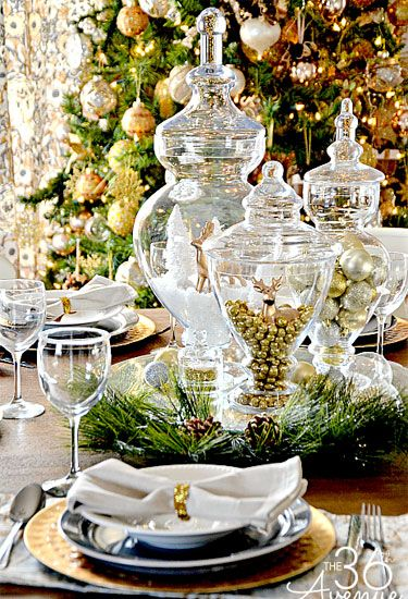 49 Best Christmas Table Settings - Decorations and Centerpiece Ideas for Your Christmas Table & 49 Best Christmas Table Settings - Decorations and Centerpiece Ideas ...