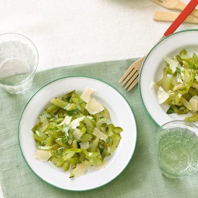 grilled celery salad with tarragon dressing
