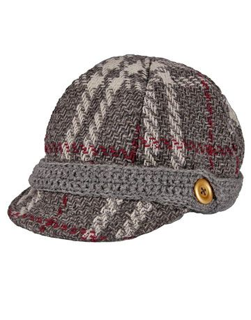 plaid gray cap