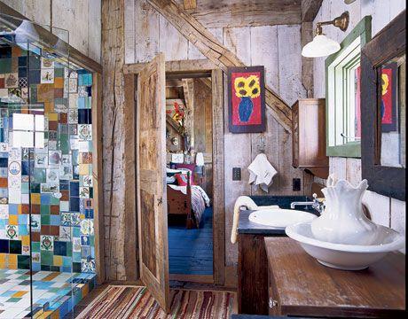 37 Rustic Bathroom Decor Ideas Rustic Modern Bathroom Designs - Country-bathroom