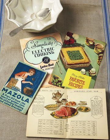 vintage recipe books