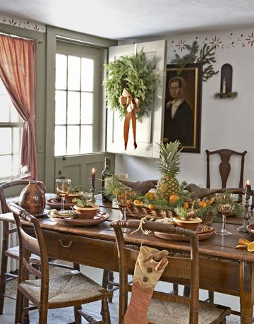image tria giovan colonial dining room decor - Colonial Christmas Decor