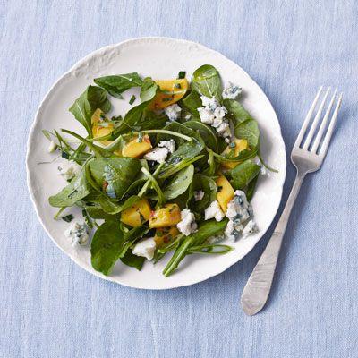 Arugula, Mango, and Blue Cheese Salad