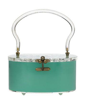 turquoise lucite purse