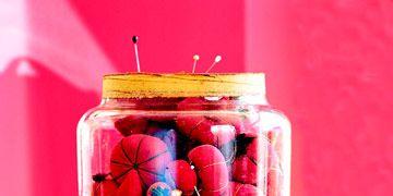pincushions in a jar