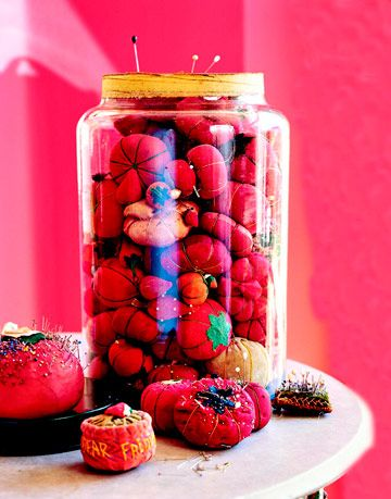 pincushions in a jar