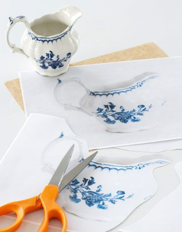 blue china creamer