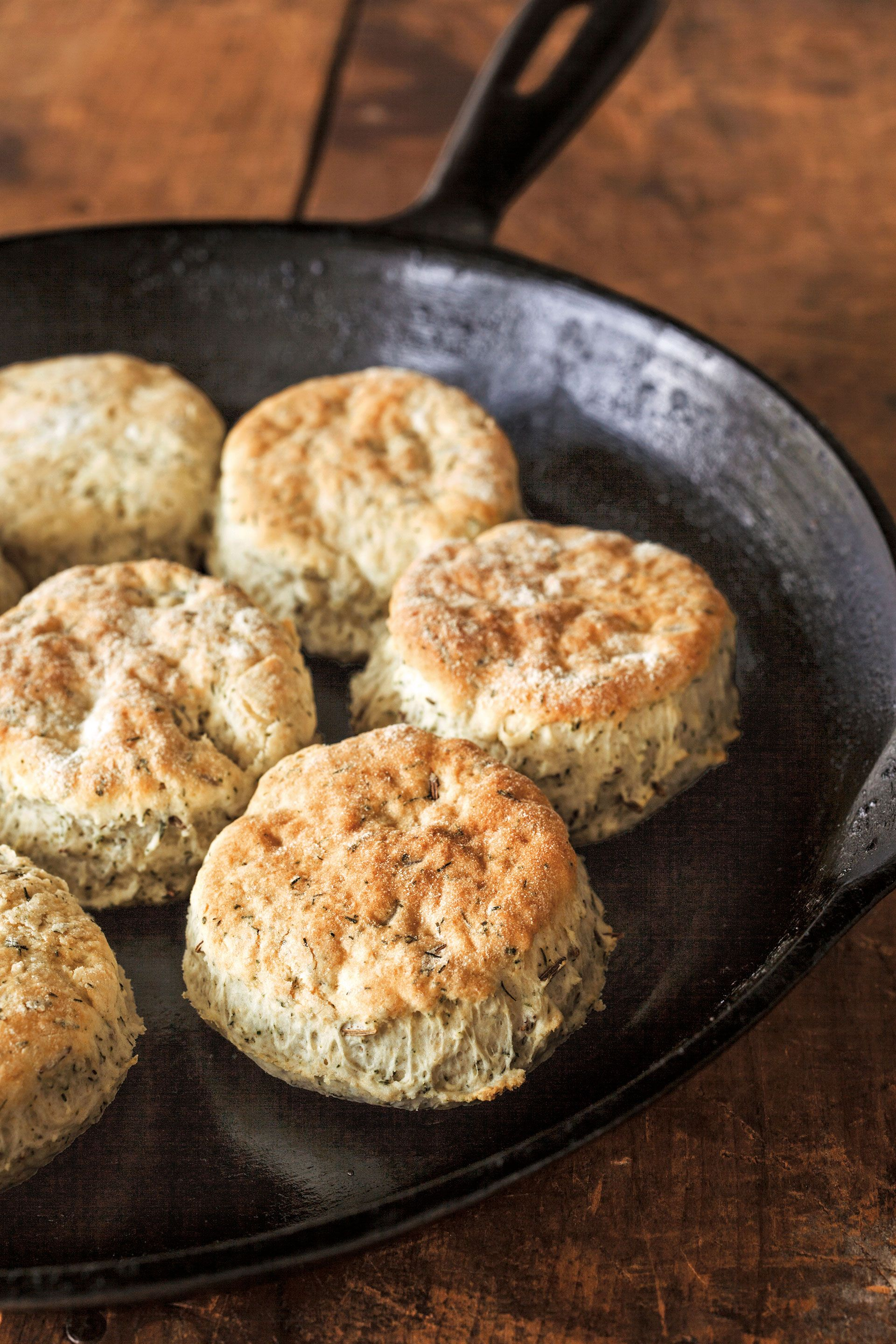 caraway dill biscuits