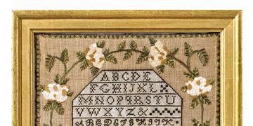 antique cross-stitch sampler