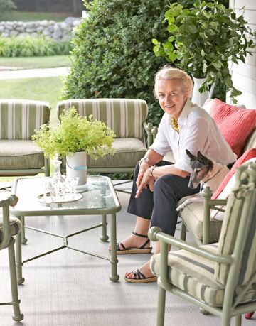 nancy taylor on porch