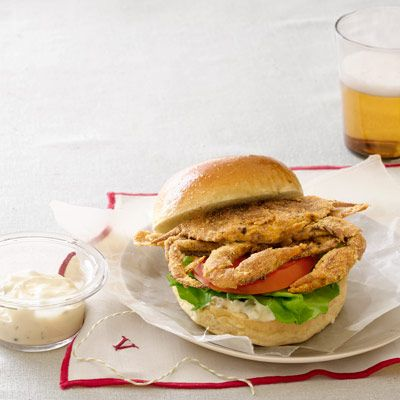 baked soft shell crab sandwiches