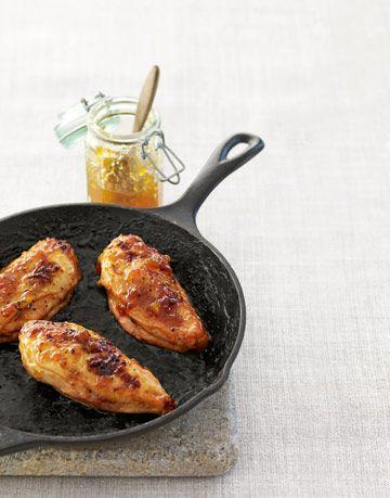 peach jam glazed chicken