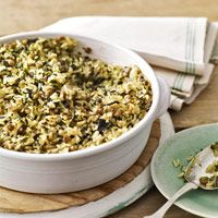 curried spinach lentil casserole