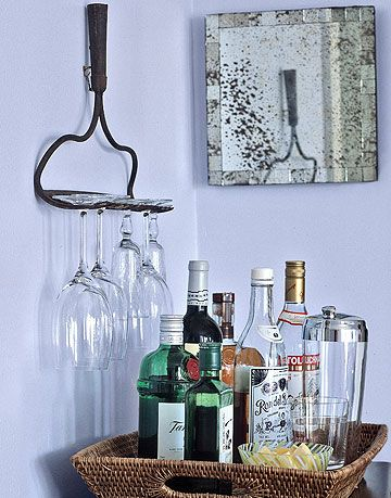 hand rake wine glass rack