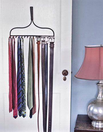 tie rack on door