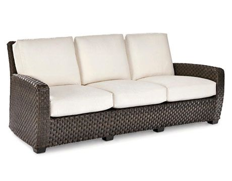 sofa with wicker