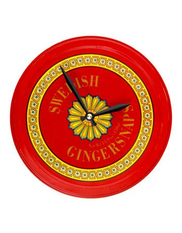 cookie tin clock