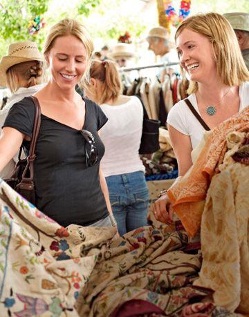 shopping at the folk art market