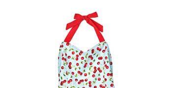cherry pattern apron