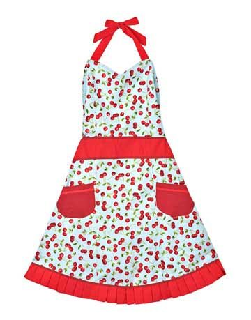 cherry pattern apron